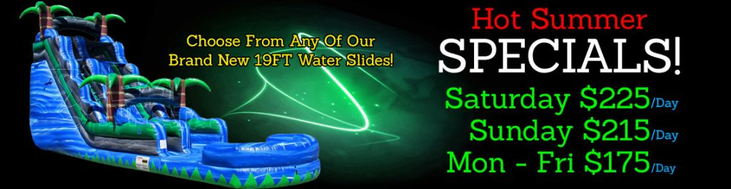 inflatable water slide rental specials - discount water slide rentals