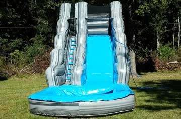 waterslide for sale blue and marble gray